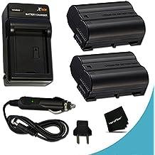 2 High Capacity EN-EL15 Batteries and Battery Charger Kit for Nikon D850 D750 D500 D7000 D7100 D7200 D7500 D810, D810A, D800, D800E, D600, D610, 1V DSLR Cameras