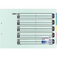 コクヨ インデックス ファイル 仕切カード 5山 10組 A3 シキ-95 Japan