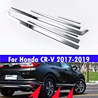 ABS樹脂電気メッキステンレススチールドア装飾保護ストリップ 6個 ホンダCRV CR-V 2017 2018 2019用