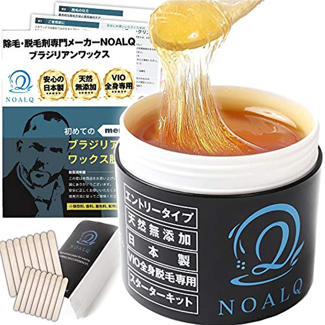 三番遅い区別するNOALQ(ノアルク) ブラジリアンワックス エントリータイプ 天然無添加素材 純国産100% VIO 全身脱毛専用 スターターキット