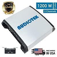 Audiotek AT900S 2チャンネル クラスA/B 2オーム 安定 1200W カーオーディオステレオアンプ LEDインジケータ付き