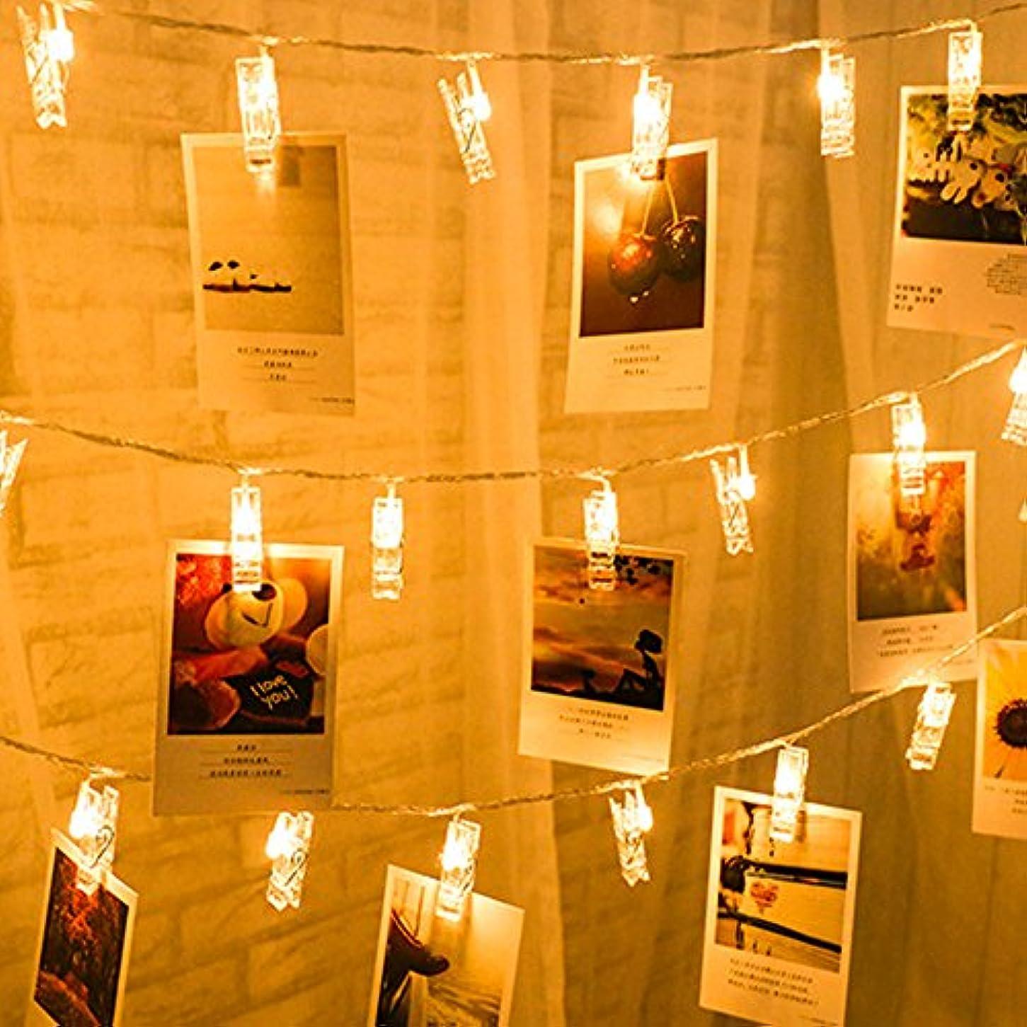 抽象アラブサラボ立派なストリングライト LEDイルミネーションライト、SIMPLE DO 20LED 写真クリップ DIY 壁飾り ソーラー充電式 間接照明 クリスマス/新年/結婚式/誕生日/パーティー飾り 雰囲気ライト(ウォームホワイト)