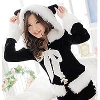 (ベネディモール) Bene di mall かわいい 猫耳 サンタ コスチューム 【大きいサイズ あり M L XL XXL 】 /サンタクロース コスプレ 衣装/クリスマス イベント 仮装