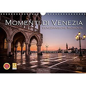 Momenti di Venezia - Venezianische Momente (Wandkalender 2018 DIN A4 quer) Dieser erfolgreiche Kalender wurde dieses Jahr mit gleichen Bildern und aktualisiertem Kalendarium wiederveroeffentlicht: Venedig die Stadt die auf Wasser gebaut wurde. Zwoelf beeindruckende Bilder machen diesen Kalender zu einem unvergesslichen Erlebnis. (Monatskalender, 14 Seiten )