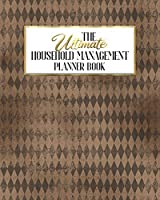 The Ultimate Household Management Planner Book: Fancy Skull Floral Gothic | Home Tracker | Family Record | Calendar | Contacts | Password | School | Medical Dental Babysitter | Goals Financial Budget Expense