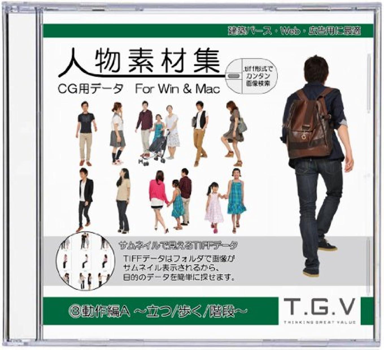 不信省略分析する人物素材集8 動作編A ~立つ/歩く/階段~