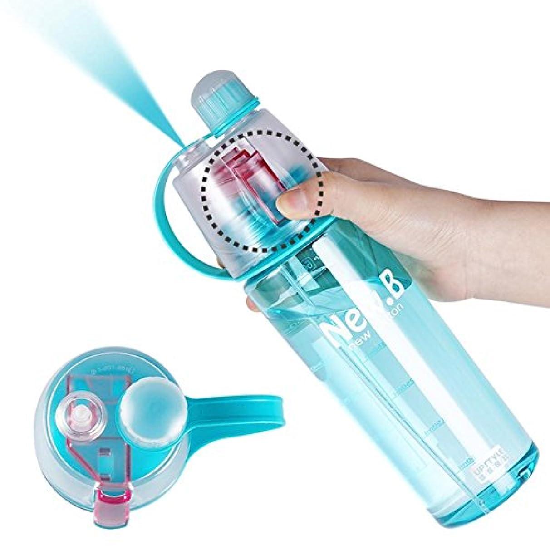 曖昧な細部じゃないLacyie 600ml ボトル 水筒 噴霧ミストウォーターボトル スポーツボトル 直飲み 目盛り付い 皮膚に水分補給 耐冷 耐熱 携帯便利 登山用 アウトドア スポーツ