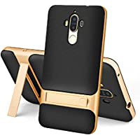 Huawei Mate8 Case, Special Foldable Movie Stand Plating Hard Bumper Frame+Soft Thin Armor Cover, TAITOU New Ultralight Slim Protect Case For Huawei Mate 8 Gold