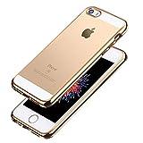[ライブリーライフ]メッキ加工 iPhone SE ケース iPhone5s カバー iPhone5 ケース アルミバンパー 耐衝撃 金属風 高品質 全2色(iPhone SE/5s/5,ゴールド)
