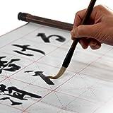 NINWA館: 水書き 書道セット : 墨汁 不要 水だけで書ける 不思議 な 習字 練習 用具 : 水書布 ( 書き初め の 練習 に最適 )