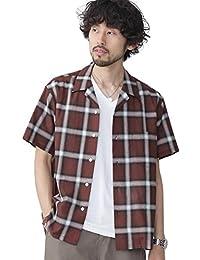 (ナノ・ユニバース) nano・universe//開襟オンブレーチェックシャツ S/S 9999171111067