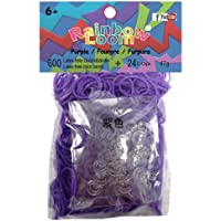 Twistz Bandz Latex Free Rubber Band Refill + C-clips - Purple by Rainbow Loom (formerly Twistz Bandz)