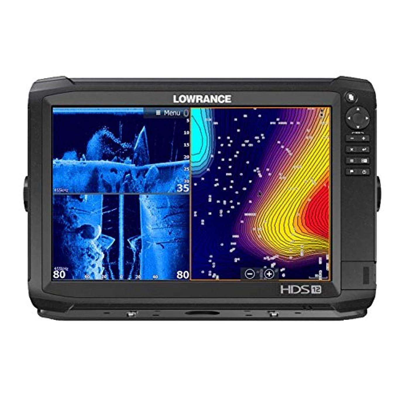 ファウル定義無声で【LOWRANCE/ロランス】HDS-12 CARBON デュアルチャープGPS魚探 全国湖沼図AT5マップ付き 魚群探知機