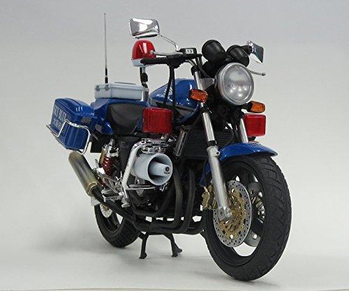 青島文化教材社 1/12 ネイキッドバイク No.SP Honda CB400 SUPER FOUR 大阪府警 スカイブルー隊 青バイ