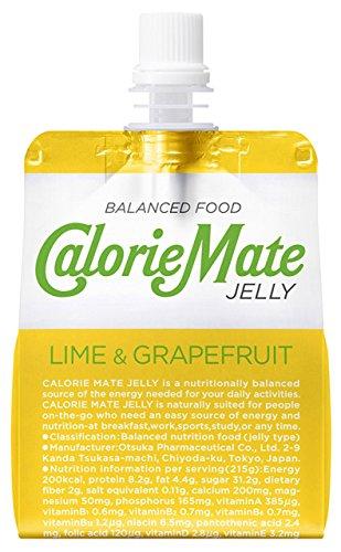 大塚製薬 カロリーメイト ゼリー ライム&グレープフルーツ味 215g×24袋