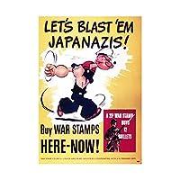 Propaganda War WWII USA Popeye Stamps Bullets Wall Art Print 宣伝戦争第二次世界大戦アメリカ合衆国切手壁