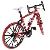 SM SunniMix 全12カラー 1/10スケール 自転車玩具 ダイキャストバイクモデル おもちゃ - 赤#2