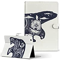 igcase d-01J dtab Compact Huawei ファーウェイ タブレット 手帳型 タブレットケース タブレットカバー カバー レザー ケース 手帳タイプ フリップ ダイアリー 二つ折り 直接貼り付けタイプ 014629 クマ 動物 アニマル