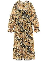 6129a92ad0f Amazon.co.jp: イエロー - ワンピース・チュニック / ワンピース・ドレス ...