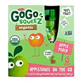 GoGo Squeez Organic Apple Peach, 90.7g (Pack of 4)