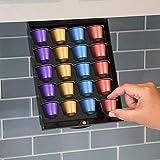 EZ-Shelf Coffee Pod Holder for Nespresso Original Line Pod Capsules   Under Cabinet, Storage Drawer Tray Organizer (for Nespresso OriginalLine Only)