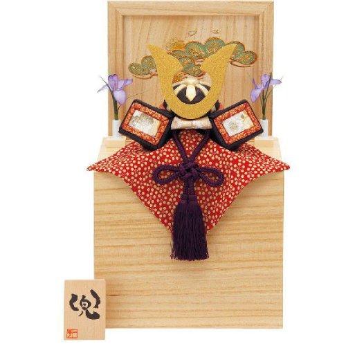 一秀 木目込み人形 M-15 五月人形(兜・桐収納) 名前入れ木札・オルゴール・お手入れセット付き