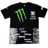 DC SHOE Ken Block DIRT2 Team モンスターエナジースポンサード 半袖Tシャツ(ブラック) (XL) [並行輸入品]