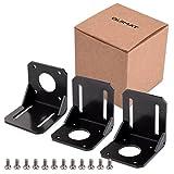 Quimat ステッパーモーター 取付ブラケット NEMA17ステッパーモーター用 L形 ステンレス鋼 3Dプリンタ CNCマシン QP01