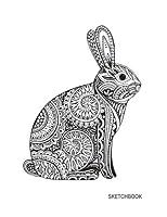 Sketchbook: Ornate Rabbit Floral: 110 Pages of 8.5 X 11 Blank Paper for Drawing, Doodling or Sketching (Sketchbooks)