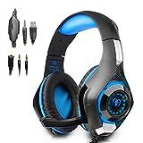 Amazon.co.jpBeexcellent ゲーミングヘッドセット ps4 ヘッドホン ゲーム用 pc スマホ等に対応 騒音抑制マイク付 ブルー