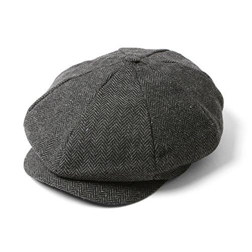 [エムエイチエー] M.H.A.style キャスケット メンズ(へリンボーン柄) ハンチング帽 キャップ [ 全3色 ] 21074 [C.チャコール]