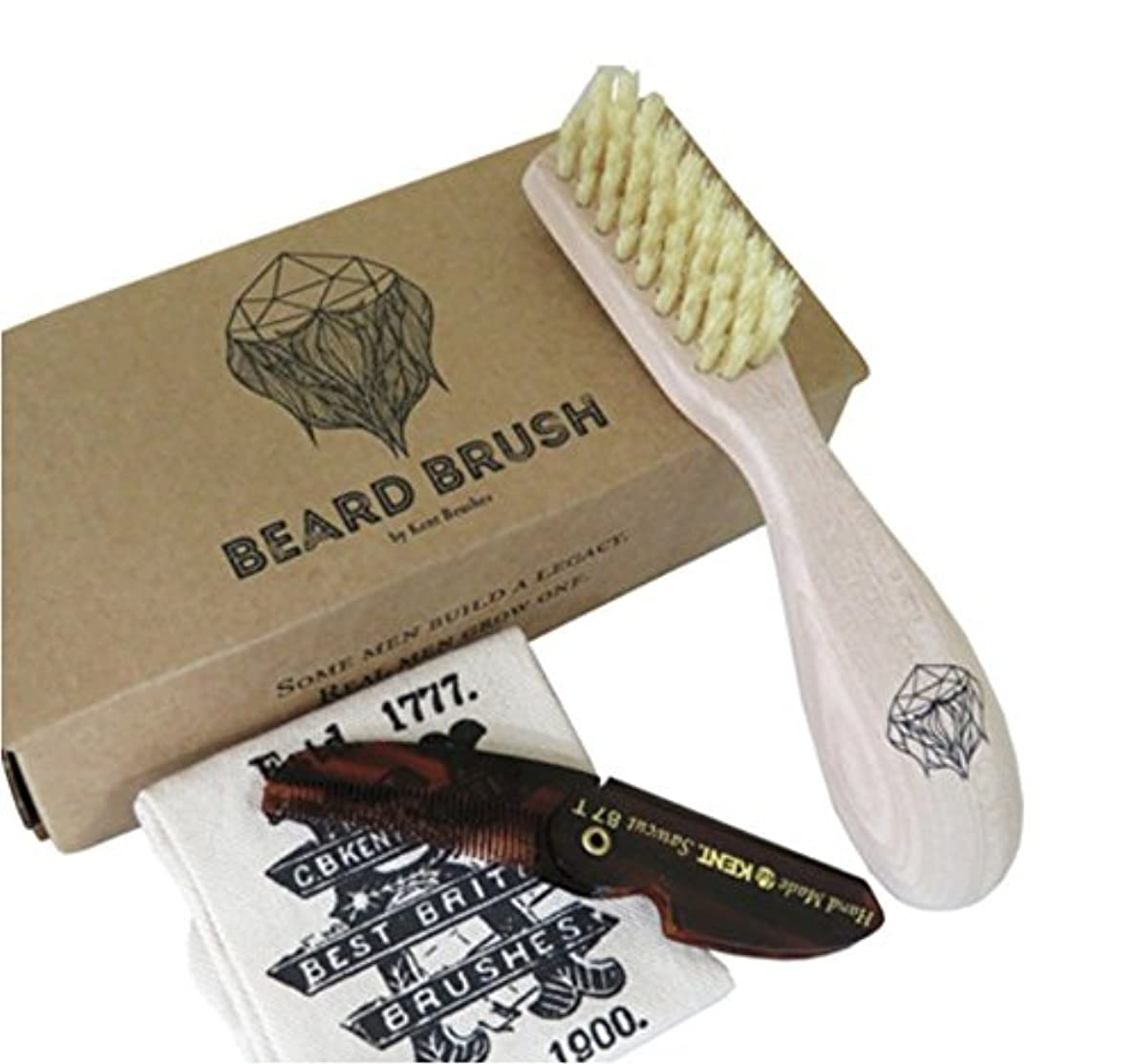 キュービック取得エコーGB KENT メンズ Beard Brush (ビアードブラシ) ひげ用 ブラシ BRD1