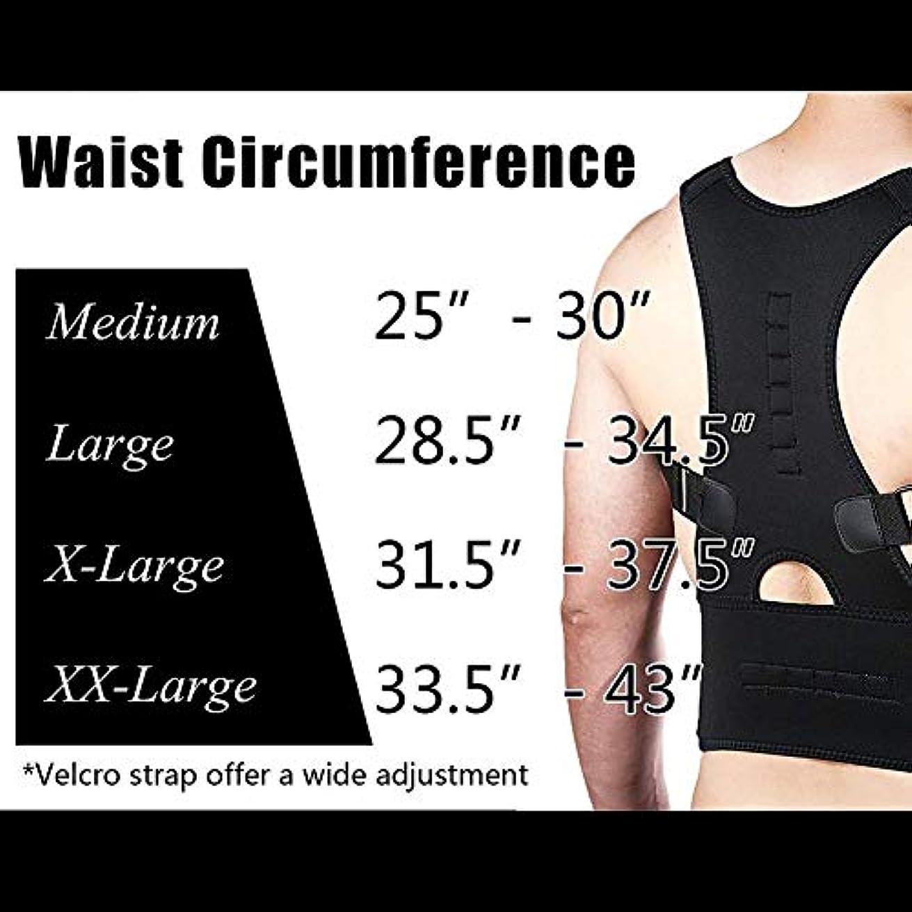 略語攻撃流星DZSW 女性と男性のアッパーバックショルダーのための背部姿勢矯正装具と鎖骨サポート矯正 (Color : Black, Size : M)