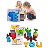 Best アルファベットのおもちゃ - ウンチョン 木製パズル ABCパズル 形合わせ 木製 ブロック アルファベット 動物 Review