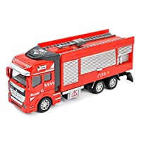Pawaca 緊急救援車両 おもちゃ 高品質 消防車 合金製 モデルカー 子供 おもちゃ プレゼント 教育 写真に 建築模型 B
