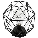 ルームアンドホーム ライト LED ワイヤードーム ブラック 20.5×11.5×20.5cm 電池式