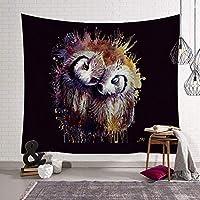 LINrxl タペストリーオオカミ頭タペストリー動物の家の壁のナチュラル・アートスクエアタペストリータペストリーリビングルームのベッドルームの装飾をぶら下げ (Size : 130x150cm)