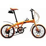 ハチコ HACHIKO 20インチ ジュラルミン 折り畳み自転車 SHIMANOシマノ7段 変速[98%完成品]泥よけ付きプレゼントがあり!HA-01