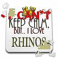 ブロンドDesigns I Cant Keep Calmが、I Love–I Cant Keep Calm , Rhinos–10x 10インチパズル( P。_ 242213_ 2)