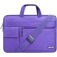MOSISO Laptop Shoulder Bag Compatible 13-13.3 Inch MacBook Pro, MacBook Air, Notebook Computer, Protective Polyester Flapover Messenger Briefcase Carrying Handbag Sleeve Case Cover, Ultra Violet
