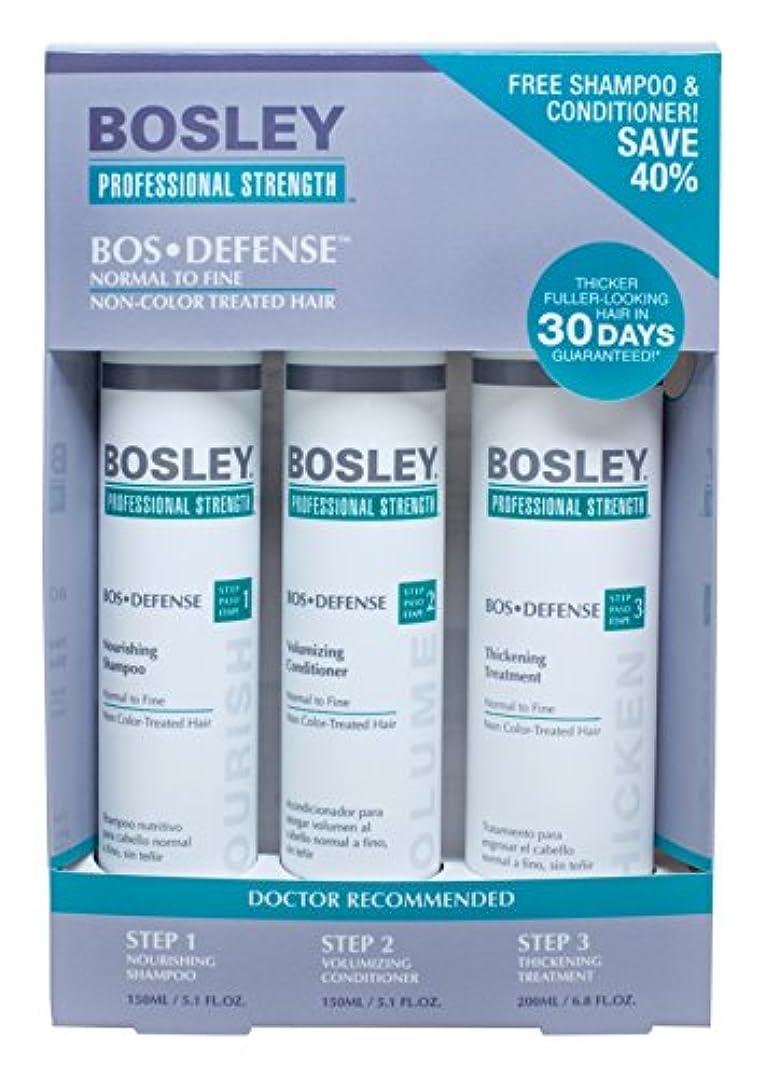 あいまいさ急襲歯科のBosley Professional Strength ノーマルヘアーファインためBOSDefenseスターター パック 非色処理されました