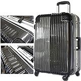 スーツケース 旅行かばん キャリーバッグ TSAロック搭載 フレーム開閉 白虎 (大型、LM、26, ブラッシュガンメタル)
