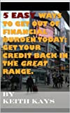 5 Easy ways to get out of financial burden today: Get your credit back in the great range. (English Edition)