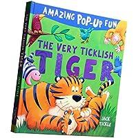 fityleハードカバーPop Up Book、カラフルな図面動物認知( Babies Kids Love ) – Tiger