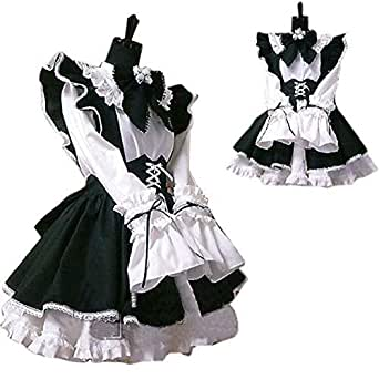[ベストPRICE]コスプレ衣装 メイド服 3点セット (レディース L)