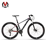 SAVADECK DECK300 マウンテンバイク 炭素繊維 27.5インチ完全なハードテール MTB自転車 シマノ30段変速 M610 DEORE (レッド)