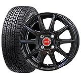 (限定)国産スタッドレスタイヤ(155/65R14)+ホイール(14インチ) 4本SET(1台分)■Aセット:RB-10[ブラック]