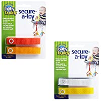Baby Buddy Secure-A-Toy straps 4ct for 6- 36 months (Multicoloured)