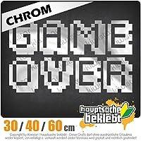 KIWISTAR - GAMEOVER Pixel font 15色 - ネオン+クロム! ステッカービニールオートバイ