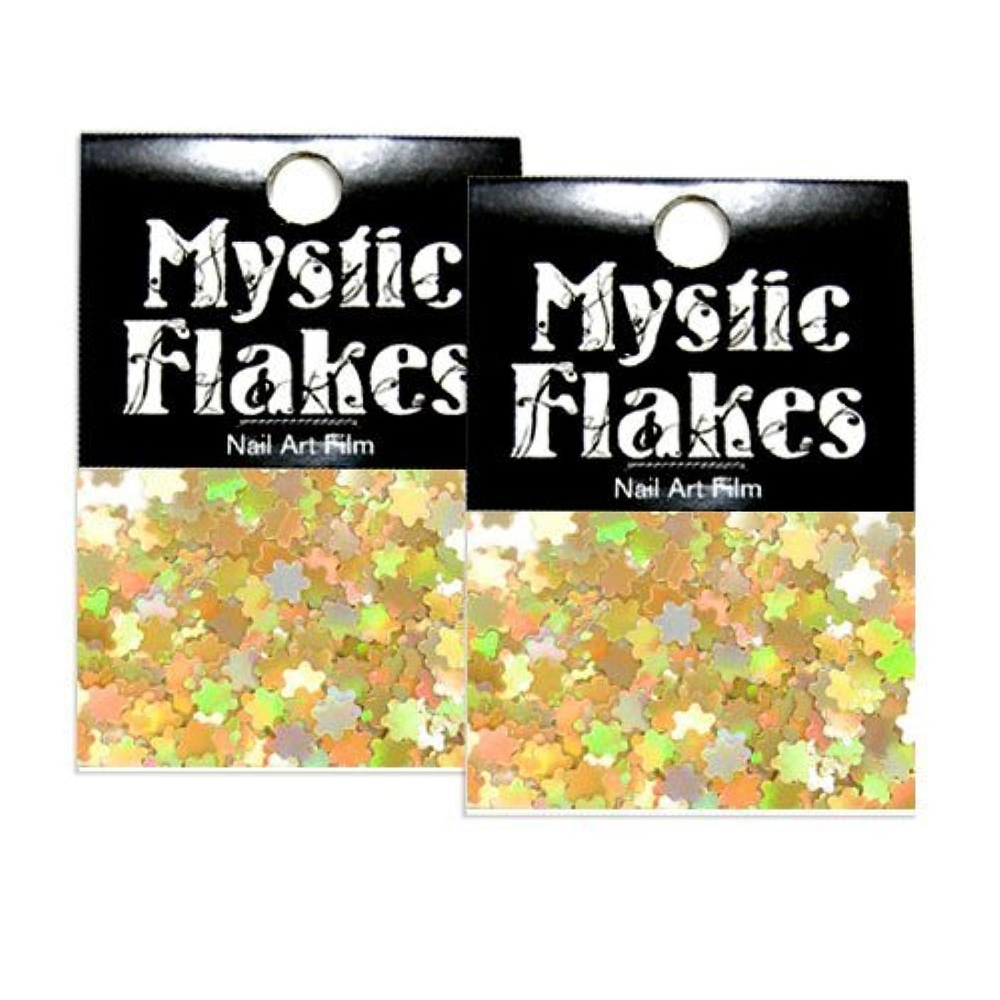 書誌節約満州ミスティックフレース ネイル用ストーン ホロゴールド フラワー 0.5g 2個セット